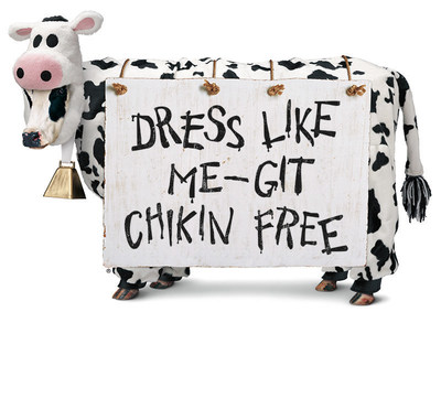 Chick-fil-A Offers Free Entrees to Cow-Dressed Customers on Cow Appreciation Day, Tuesday, July 12