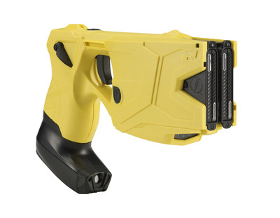 The TASER(R) X2(TM) conducted electrical weapon (CEW) Smart Weapon with dual shot capability and TASER(TM) CAM HD recorder. The use of TASER CEWs has saved more than 150,000 lives from potential death or serious injury.  Photo courtesy of TASER International, Scottsdale, AZ.