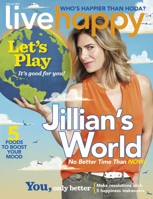 Live Happy Magazine Features Jillian Michaels on Cover of January/February Issue