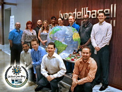 LyondellBasell employees and their families in 20 countries will celebrate the 15th anniversary of the company's Global Care Day by participating in community service projects across the globe on Saturday, May 17, 2014. Projects include feeding the hungry, collecting clothes and toys for the needy, beach clean-ups, and beautification of parks and schools. (PRNewsFoto/LyondellBasell)
