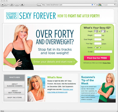 Suzanne Somers, in Partnership with Everyday Health, Inc., Launches SexyForever.com, a Revolutionary Weight-Loss Program.  (PRNewsFoto/Everyday Health, Inc.)
