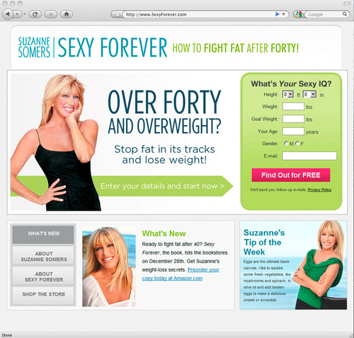 Suzanne Somers, in Partnership with Everyday Health, Inc., Launches SexyForever.com, a