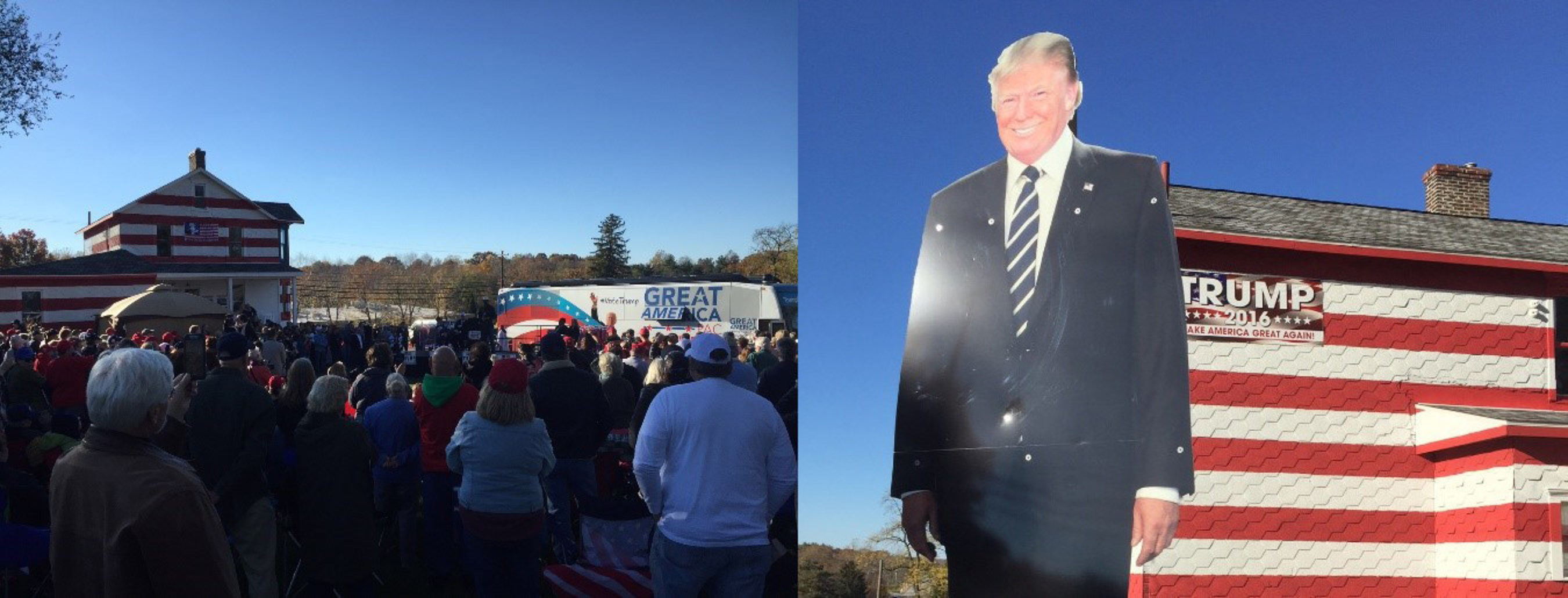 """""""Trump House"""" event - Sheriff David Clarke and others address a crowd of over 1,000"""