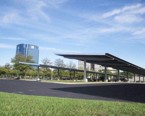 Solaire Generation recently completed installation of a 402-kW solar carport system for Konterra Realty Group ...