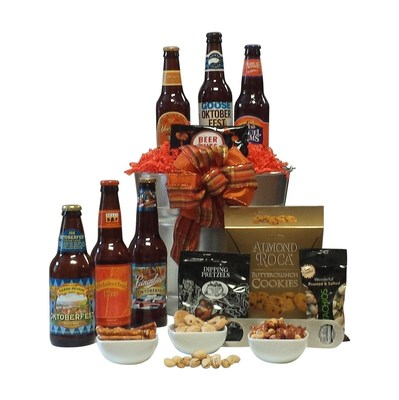 A collection of Oktoberfest-style beers from craft breweries across the US delivered to the home or office.