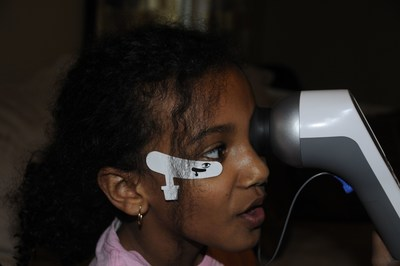RETeval testing on 9-year old Kayla