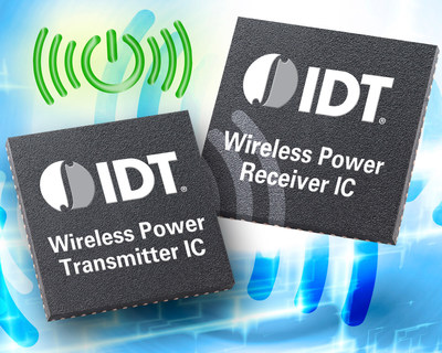 IDT Launches Industry's Highest Efficiency 15 W Wireless Power Transmitter and Receiver Solution