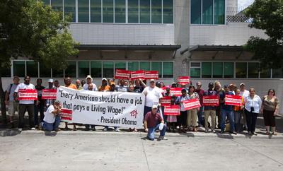 Obama Calls for Living Wages. (PRNewsFoto/House the Homeless) (PRNewsFoto/HOUSE THE HOMELESS)