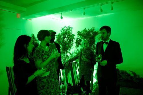 Participants in the green room (PRNewsFoto/The Singleton of Dufftown)