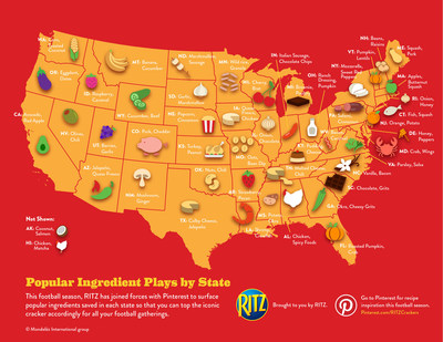 Popular Ingredient Plays by State, Brought to You by RITZ