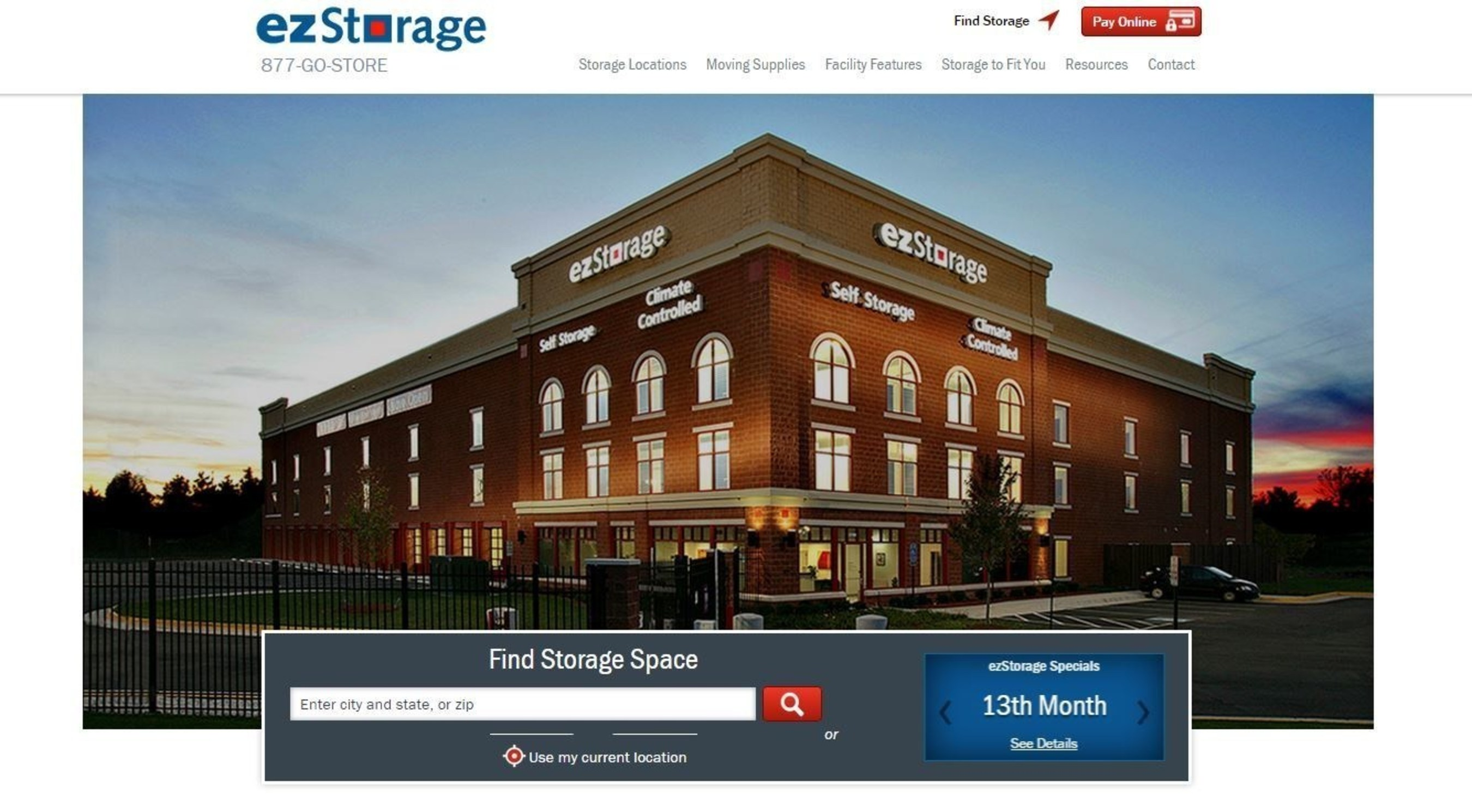 ezStorage Launches New Website