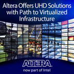 Altera FPGAs, such as Arria(R) 10 and Stratix(R) with its video IP, provide the solutions that enable broadcasters to tackle the challenges of Ultra High Definition (UHD) technology. At NAB, designers of broadcast systems can learn more about how Altera FPGAs and the Intel(R) Xeon(R) Processor E5 v4 family can enable the ecosystem for the future.
