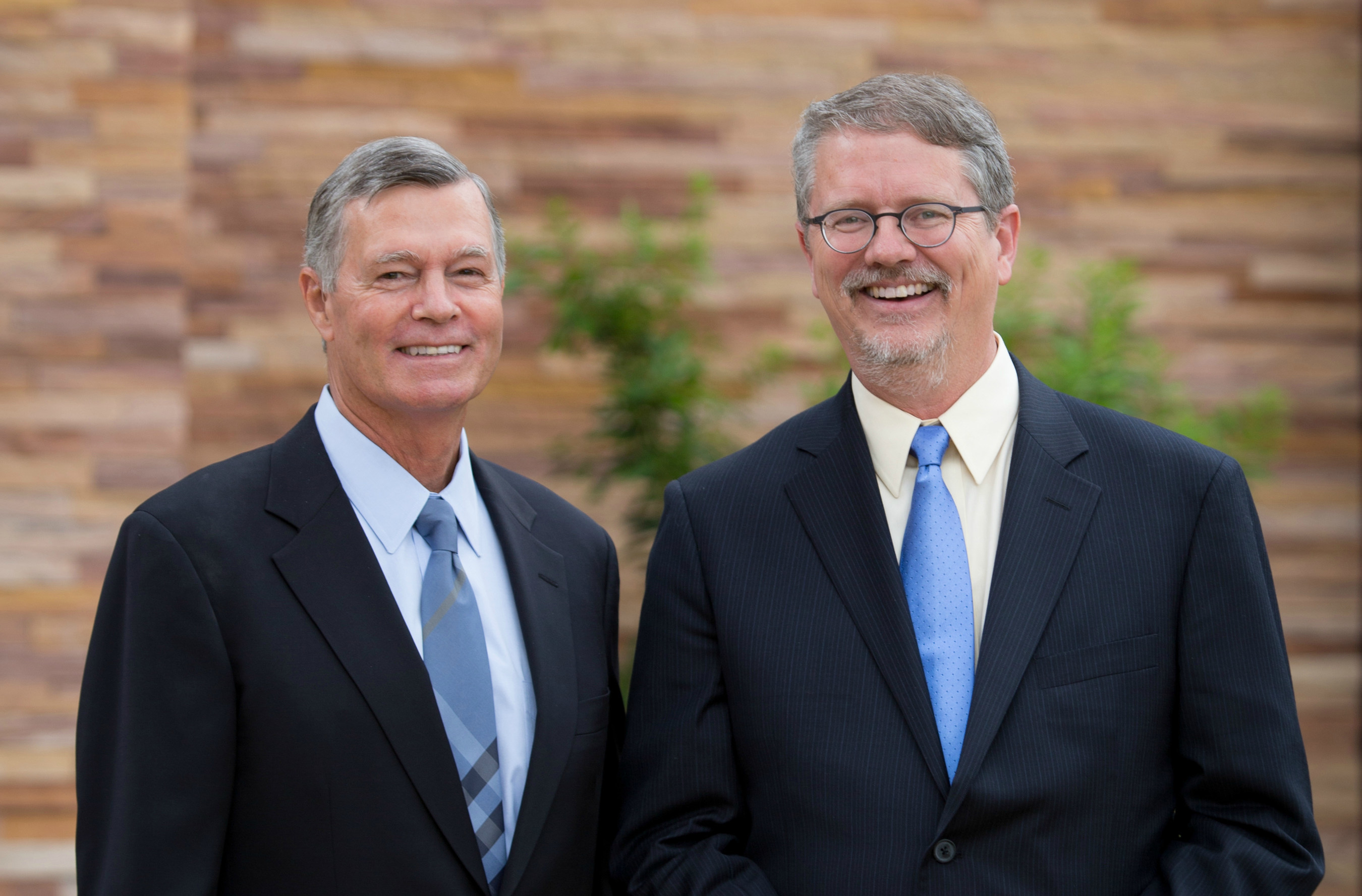L to R: Steven M. Hilton, current Chairman, President & CEO of the Conrad N. Hilton Foundation, and Peter Laugharn, Incoming President & CEO.
