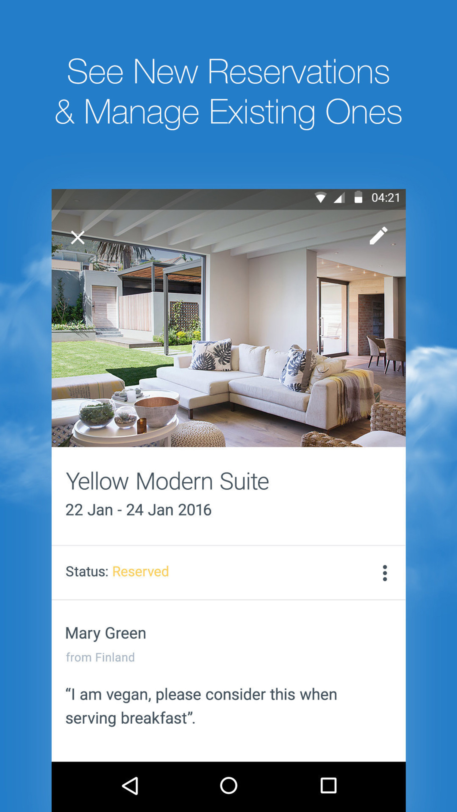 Manage hotel bookings and reservations on the fly
