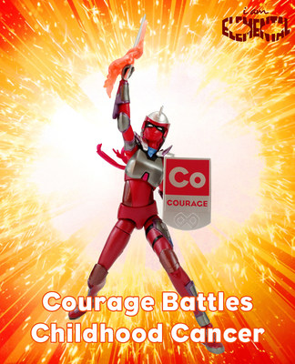 During September, IAmElemental is conducting a Buy One, Donate One program for every Courage Core Power female action figure purchased in the company's online store at http://shop.iamelemental.com. The company will distribute one figure to a child affected by cancer for each figure purchased. Image: Dan Larson, toygalaxy.tv