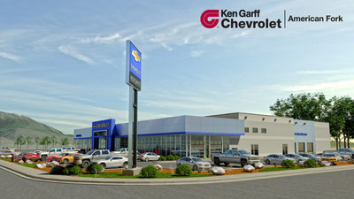 Built on nine acres of land, the newly constructed Ken Garff Chevrolet in American Fork features hundreds of new and used cars and state-of-the-art amenities.