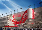 "Toyota becomes the first Founding Partner of DAYTONA Rising, the $400 million renovation of iconic Daytona International Speedway - home of ""The Great American Race,"" the NASCAR Sprint Cup Series DAYTONA 500(r).  (PRNewsFoto/International Speedway Corporation)"