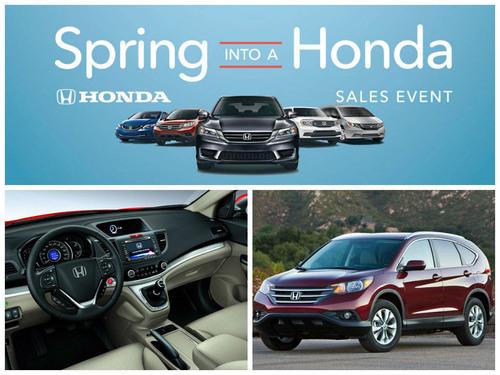 "Honda CR-V Headlines ""Spring Into A Honda"" Sales Event at ..."