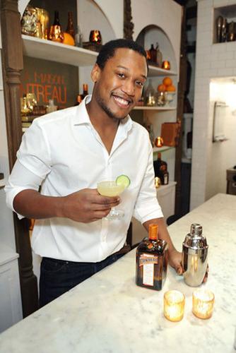 Lubens Besse and his winning Cointreau Cocktail!  (PRNewsFoto/Cointreau)
