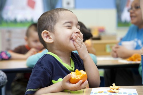 Aramark's Healthy Bites sampling program, which reaches about 2 million students at over 2,000 elementary ...