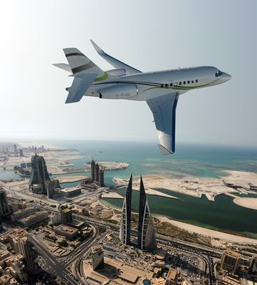The Falcon 2000S presented for the first time in the Middle East