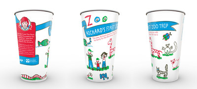 """Wendy's is celebrating """"Family First"""" moments with special cup designs drawn by four adopted children united with their forever families through the Dave Thomas Foundation for Adoption. Each cup features the children's individual """"Family First"""" experiences with their forever family. The stories come to life on wendys.com/adoption as the children recount their stories over an animated illustration."""