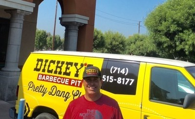 Owner/Operator Tom Gomez reopens Dickey's Barbecue Pit in Brea and Laguna Niguel