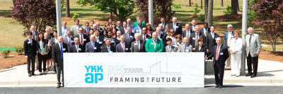 YKK AP America kicked off a yearlong celebration of its 25th anniversary on Wednesday, May 11 during a special ceremony at the company's state-of-the-art manufacturing facility in Dublin, Ga.