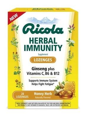 Ricola Herbal Immunity Lozenges in Honey Herb.