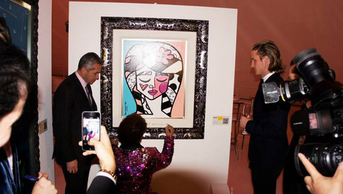 Romero Britto at Museo Soumaya. (PRNewsFoto/Britto Central, Inc.)