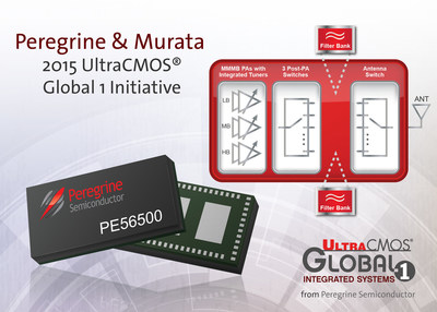 Peregrine Semiconductor teams with Murata to announce the 2015 UltraCMOS(R) Global 1 Initiative. This new initiative seamlessly integrates the PE56500 all-CMOS RF front-end solution and Murata filters.