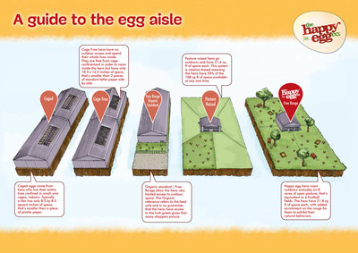 A guide to the egg aisle from the happy egg co.