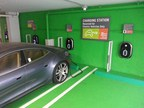 Hampton Inn & Suites Miami Brickell-Downtown now offering 4 Electric Vehicles Charging Stations (PRNewsFoto/Hampton Inn & Suites Miami Brick)