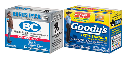 New Charity-Branded Packages of BC and Goody's Powders go on Sale to Benefit Wounded Warrior
