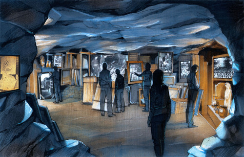 """A rendering of the National WWII Museum's upcoming Monuments Men Gallery which will tell the story of the men and women who saved cultural treasures from Nazi destruction. The """"Monuments Men,"""" a group of museum curators and art experts from 13 nations are also the subject of a major motion picture to be released February 17, 2014, which is based on the best-selling non-fiction book by Museum Board of Trustees member Robert Edsel. (PRNewsFoto/National WWII Museum) (PRNewsFoto/NATIONAL WWII MUSEUM)"""
