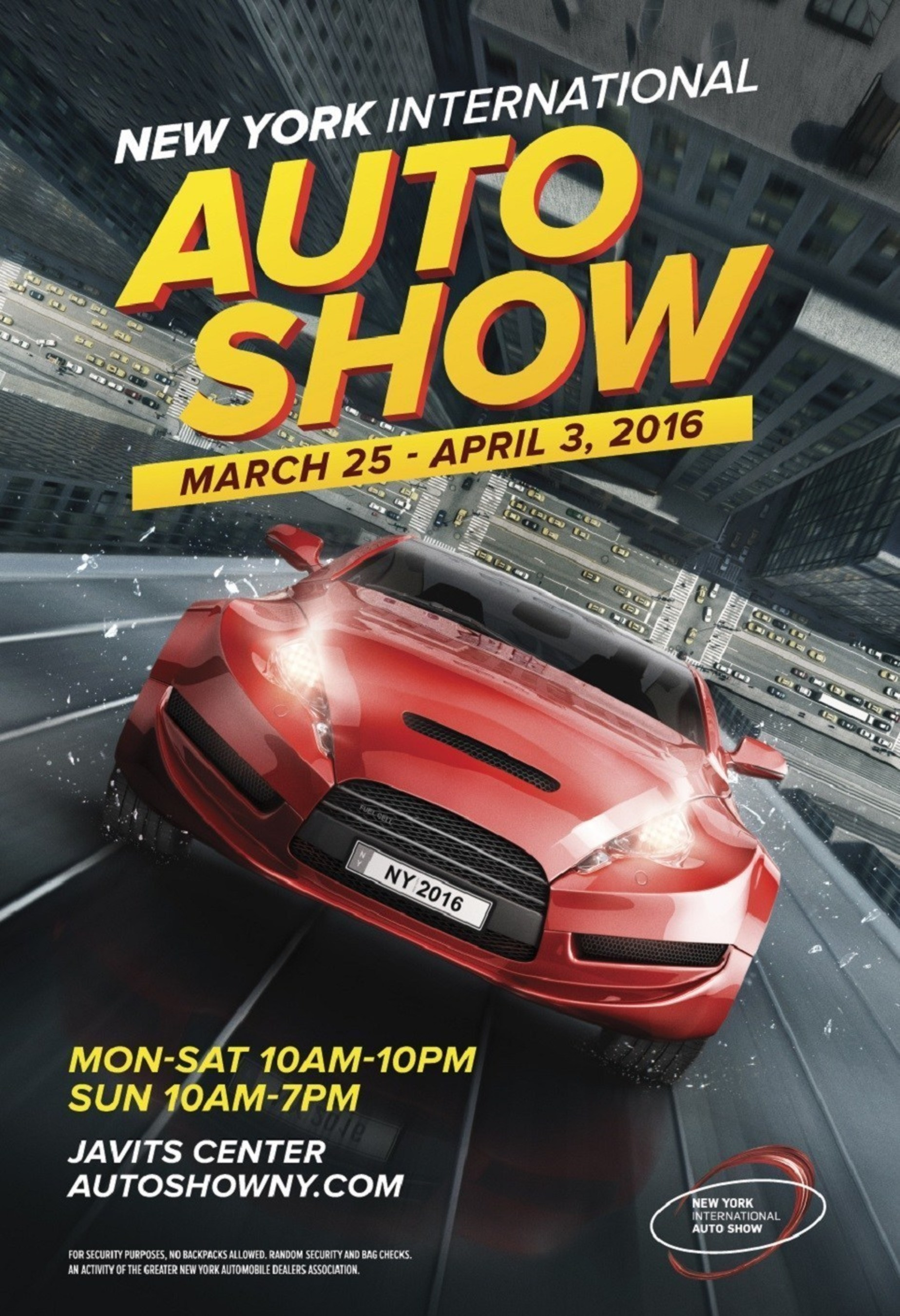 New York Auto Show Unveils New Poster Art For - New york auto show