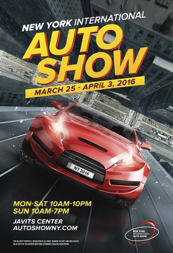 The all-new 2016 New York Auto Show poster.