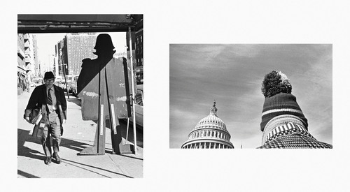 Cutout Man, New York, 1971 and U.S. Capitol, Washington D.C., 1977 (Copyright Mark Chester) from the book Twosomes, Un-Gyve Press. (PRNewsFoto/Un-Gyve Limited) (PRNewsFoto/UN-GYVE LIMITED)