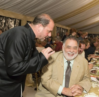 "Barrett Wissman and Francis Ford Coppola reveling in the ""Bella Italia!"" Tribute to Sophia Loren at the Ninth Annual Napa Valley Festival del Sole.  Source: IMG Artists"