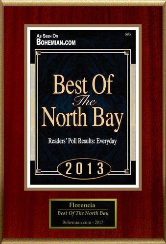 "Florencia(R) Selected For ""Best Of The North Bay"".  (PRNewsFoto/Florencia)"