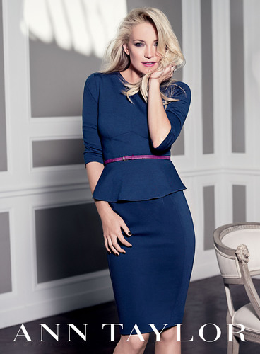 Kate Hudson to return as face of Ann Taylor's Fall 2012 ad campaign.  (PRNewsFoto/Ann Taylor)