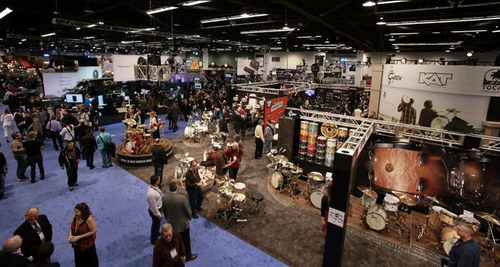 Getty Images photo of 2013 NAMM Show floor. (PRNewsFoto/National Association of Music Merchants (NAMM)) ...