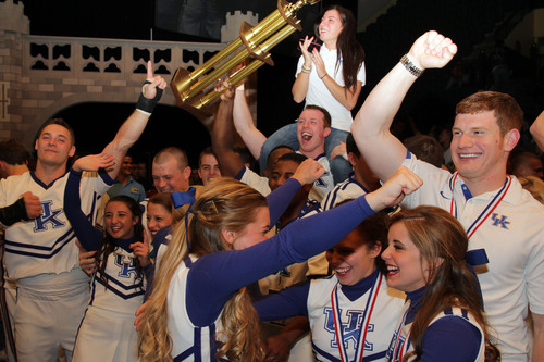 The University of Kentucky was one of six teams to bring home a top title at this year's College Cheer and Dance Team National Championships, produced by the Universal Cheerleaders Association and the Universal Dance Association, two of the Varsity brands. (PRNewsFoto/Varsity) (PRNewsFoto/VARSITY)