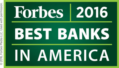 Forbes 2016 Best Banks in America