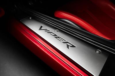 Mopar door sill guards for new 2013 SRT Viper.  (PRNewsFoto/Chrysler Group LLC)