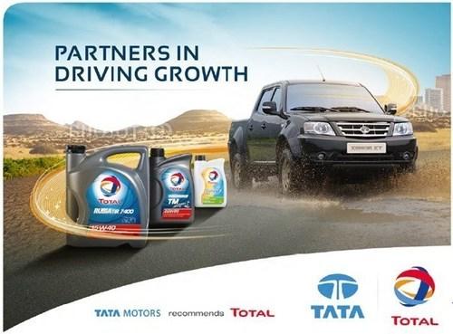Tata Motors recommends Total (PRNewsFoto/Tata Motors and Total Lubrifiant) (PRNewsFoto/Tata Motors and Total Lubrifiant)
