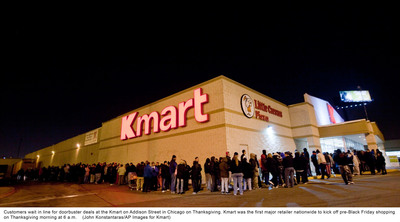 Shop Your Way members get more at Kmart and Sears for the holidays with extended hours on Thanksgiving Day and Black Friday.  (PRNewsFoto/Sears Holdings Corporation)
