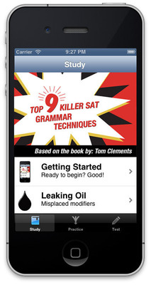 Killer SAT Grammar Game www.satgrammarapp.com (PRNewsFoto/Tom Clements Tutoring) (PRNewsFoto/TOM CLEMENTS TUTORING)