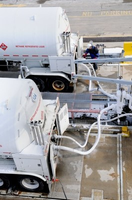 A recent purchase agreement will make up to 1 Bcf of additional liquefied natural gas available to meet next winter's regional demand.  It will allow GDF SUEZ to take advantage of gas purchases in North America to increase supply assets and continue to ensure reliability during the heating season. The LNG will be transported by tanker truck to New England utilities to help meet inventory requirements.  That LNG will then be drawn down on cold peak days when demand is high. (PRNewsFoto/GDF SUEZ Gas NA)