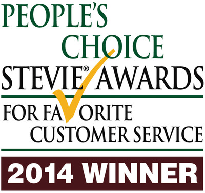 Vonage Wins 2014 People's Choice Stevie(R) Award For Favorite Customer Service, Telecommunications.  (PRNewsFoto/Vonage Holdings Corp.)